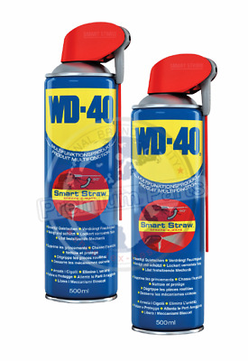 2x WD-40 Multifunktionsprodukt Smart-Straw Vielzweckspray Universalspray 500ml