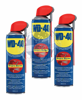 3x WD-40 Multifunktionsprodukt Smart-Straw Vielzweckspray Universalspray 500ml