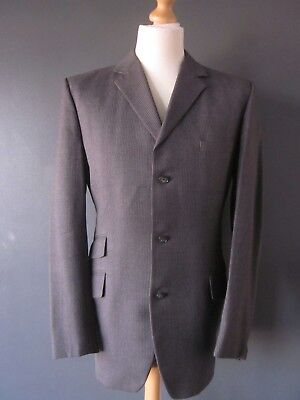RARE TRUE VINTAGE 1966 JOHN TEMPLE 3pc MOD SUIT (38x31x33) GREY PINSTRIPE WOOL S
