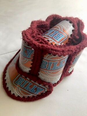 Vintage~ Recycled Aluminum Beer Can Crochet Knit Cap BILLY BEER