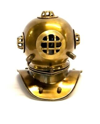 "Reproduction Mark V US Navy Divers Helmet 8"" ~ Nautical Marine Maritime Gift"