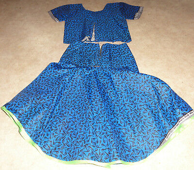 Traditionelle afrikanische Tracht Kinder-Kleid Rock Bluse Handarbeit