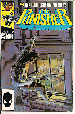 The Punisher #4 FINE+ Marvel Comics 1986 Limited Series