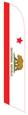 California 12ft Feather Banner Swooper Flag - REPLACEMENT FLAG ONLY