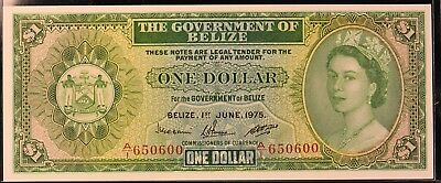 1975 Belize $1 Note. Uncirculated. ITEM AE20