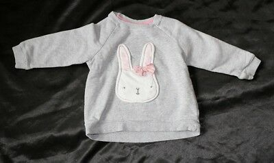 pull fille H&M gris lapin 12 - 18 mois