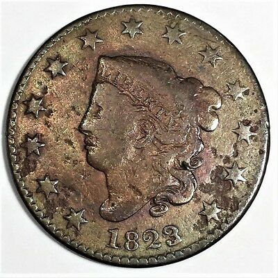 1823/2 Coronet Head Large Cent Beautiful High Grade Coin Rare Date
