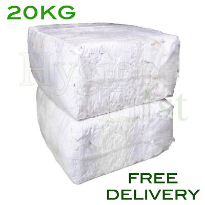 20Kg Bag Of Rags White Mix Wiper Industrial Engineers Garage Rag Cotton Wiper