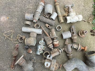 Job Lot Vintage Water  Brass/metal Taps And Valves Antiques