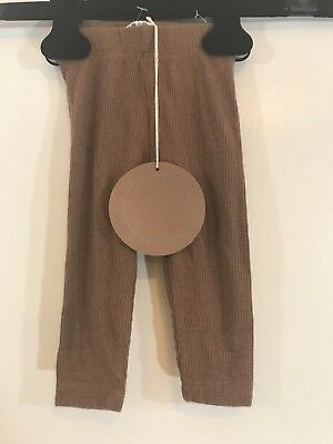 Coco Blanc Unisex Babies Ribbed Leggings, Brown, Size 6-9m