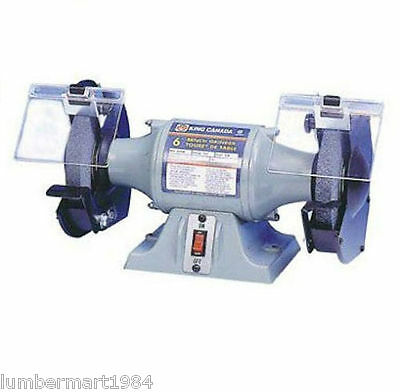 "King Canada Tools KC-690 6"" BENCH GRINDER Touret d'Établi 6"" 3.5 amp 3500 RPM"