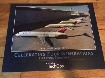 Celebration Four Generations Of Flying Poster - B717 Dc9 Md88 Md90 Poster 22X28
