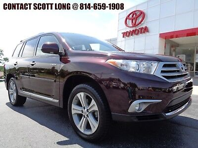 2013 Toyota Highlander 2013 FWD Nav Sunroof Sizzling Crimson Certified 2013 Toyota Highlander FWD Limited Navigation Heated Leather 3rd Seat