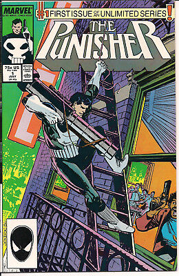 The Punisher #1 VF+ Marvel Comics 1987 Un-Limited Series