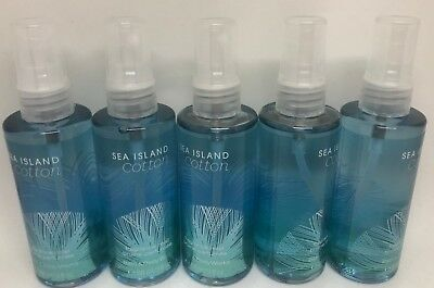 5 Bath Body Works Fresh Sea  Island Cotton Fine Fragrance Mist Spray Travel Size
