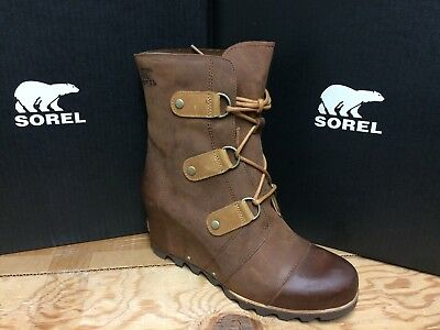 da38b468f00d SOREL SANDY WEDGE GREEN Leather Waterproof Lace Up Ankle Boots SZ 9 ...