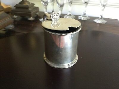 Antique 19th Century London Solid Silver Mustard Pot Arthur Sibley 1871