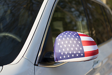 Car Mirror Flags - United States of America
