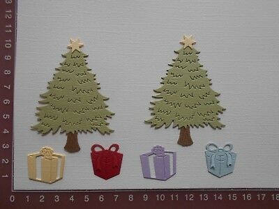Scrapbooking Card Making die cuts - Christmas Tree Gifts x 2 sets Assembled