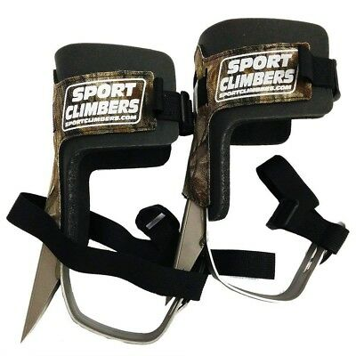 Sport Climbers Tree Climbing Spikes Pole Climbers With Pads & Straps (Pair)