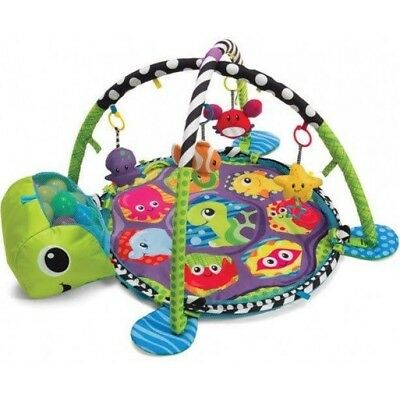 Infantino Grow-with-Me Turtle Activity Gym And Ball Pit