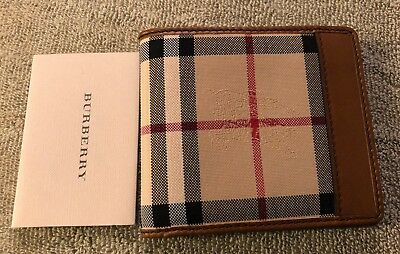 top-rated newest select for original united kingdom BURBERRY MEN'S WALLET Horseferry Check - Tan - Brand New