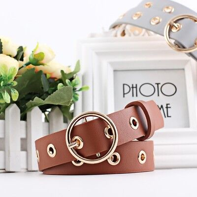 Woman Hollowed Out Air Eye Lady Belt Wide Waist Belts Faux Leather Waistbands