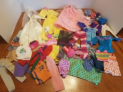 Vintage Unmarked Doll Clothes 70s to now Lot over 40 pieces