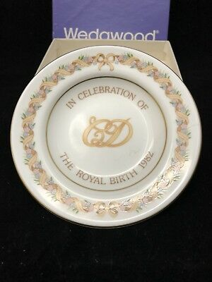 Vintage Wedgwood Charles And Diana ROYAL BIRTH 1982 Commemorative Plate.