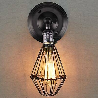 Vintage Industrial Metal Cage Wire Frame Ceiling Pendant Light Lamp Shades New