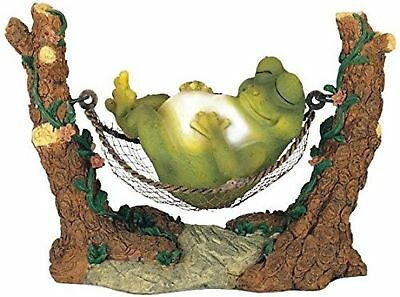George S. Chen Imports SS-G-61047 Frog On Hammock Garden Decoration Collectib...