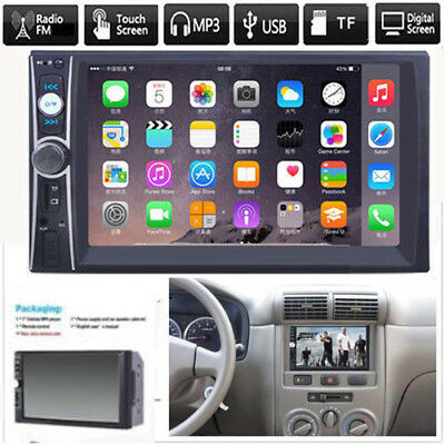 "7"" DOUBLE 2DIN Car MP5 Player Bluetooth Touch Screen Stereo Radio Car Kit"
