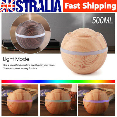 500ML USB LED Ultrasonic Aroma Air Humidifier Diffuser Aromatherapy Purifier AU