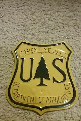 **US Forest Service Department of Agriculture POST Shield Metal Sign  5X5 1/2""