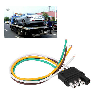 TRAILER LIGHT WIRING Harness add 4-Pin Plug 4 Way Flat Adapter Wire on ford fiesta trailer hitch light harness, 4 pin trailer wiring connectors, 4 pin trailer controller, 13 f250 7 pin wire harness, 4 pin cable, 4 pin trailer wiring problems, 4 pin to 7 pin trailer wiring,