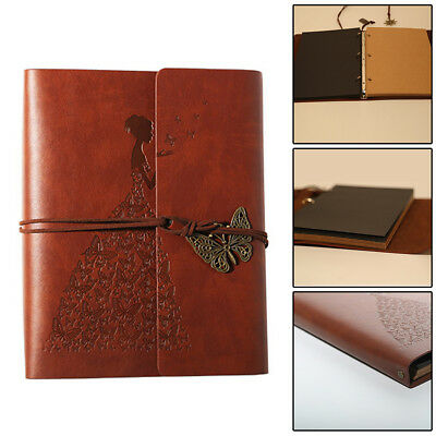 Vintage Self Adhesive Leather Photo Album large vintage Birthday Gift UK