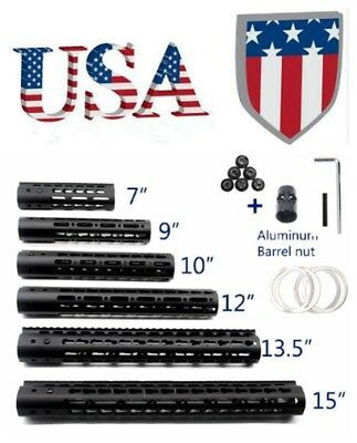 "US 7""/9""/10""/15"" Ultra Slim Free Float KEYMOD Quad Rail Slim Handguard QD Sling"