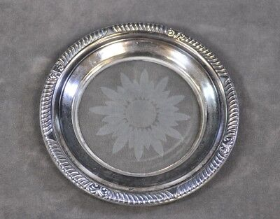 Frank M. Whiting Sterling Silver & Crystal Coaster (CNP)