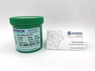 AMTECH NC-559-V2-TF No-clean Tacky Solder Flux (ROL0) 75g Jar USA MPN 16144