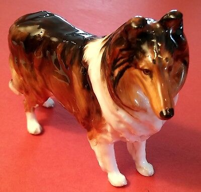 ROYAL DOULTON COLLIE FIGURINE HN 1059 3 1/2 X 5 Inches Bright Glossy FRED DAWES