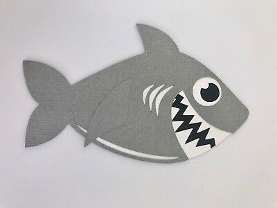 Fully assembled Shark paper piecing / die cut