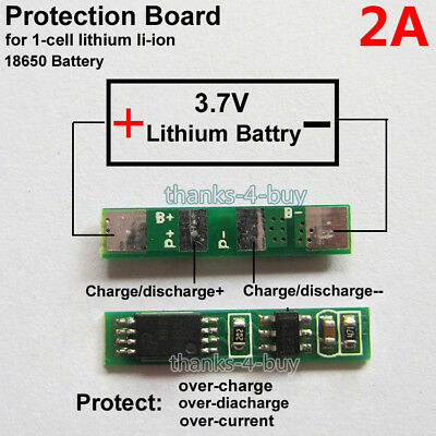 3x 1S 3.7V 2.5APCB BMS Protection Board for 18650 Li-ion Lithium Battery Cell@/&