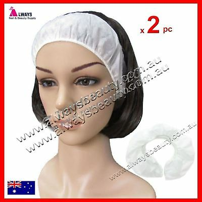 2Pc Disposable Headbands Thick Material Non Woven Hairbands Prevent Oil AUSSIE