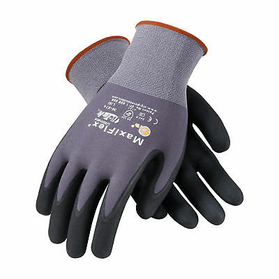 PIP 34-874/L MaxiFlex Ultimate Nitrile Micro-Foam Coated Gloves LARGE 12 pair