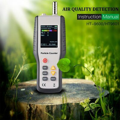 Portable Precision Efficient Handheld Air Quality Detector Particle Counter TD