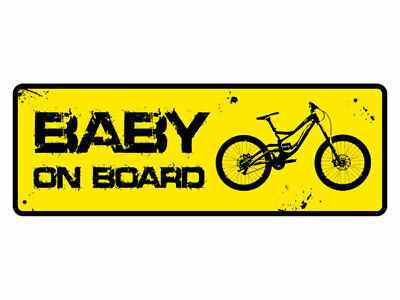 "Autoaufkleber MTB Sticker ""Baby on Board"" Mountain Bike & Downhill Aufkleber"