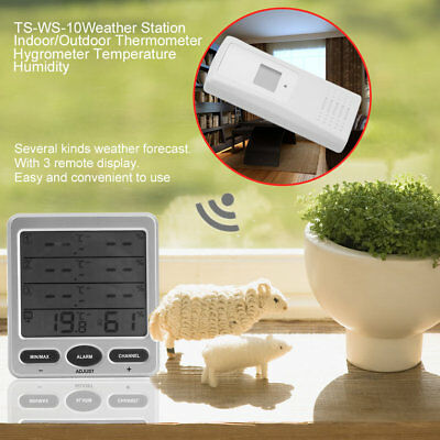 Weather Station Indoor/Outdoor Thermometer Hygrometer Temperature Humid TD
