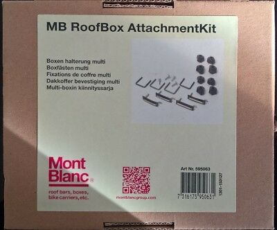 BRAND NEW MONT BLANC Space Roof Box Attachment Kit TBKIT ROOFBOX