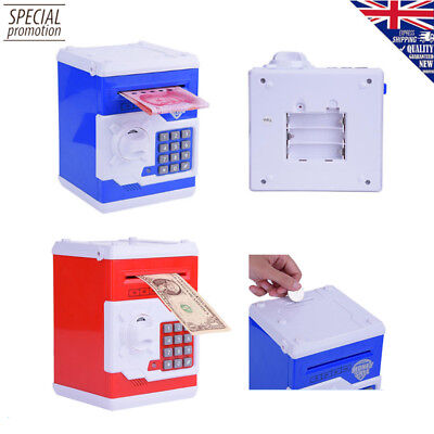 Kids Atm Bank Cash Machine Coin Note Counter Saving Money Box Gift Bank Safe New