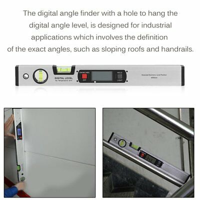 400mm Portable Size Aluminum Alloy Digital Level Protractor With Backli TD